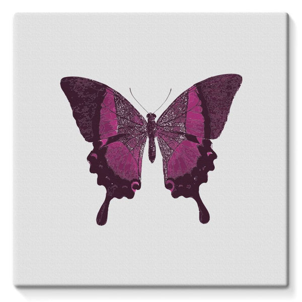 Purple Fantasy Butterfly Stretched Canvas 10X10 Wall Decor