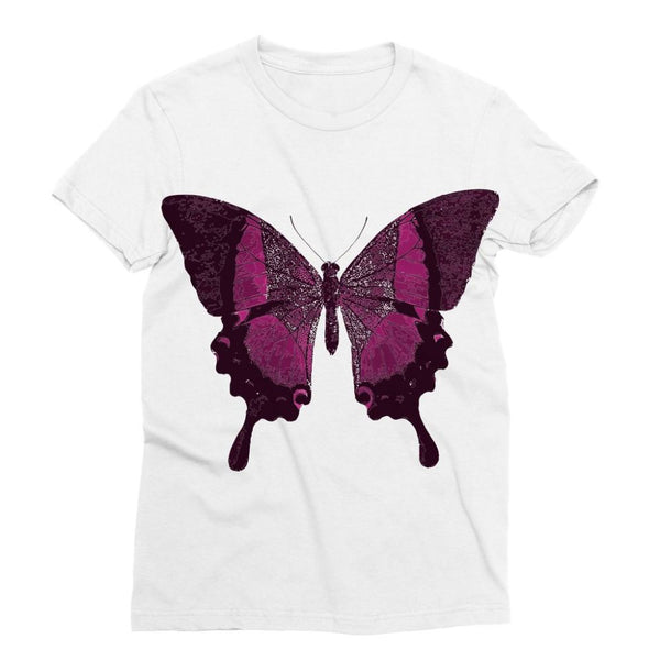 Purple Fantasy Butterfly Sublimation T-Shirt S Apparel