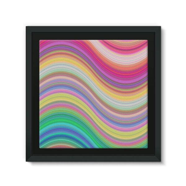 Rainbow Pattern Expression Framed Canvas 12X12 Wall Decor