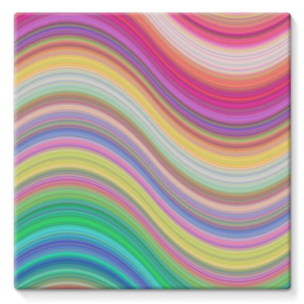 Rainbow Pattern Expression Stretched Canvas 10X10 Wall Decor