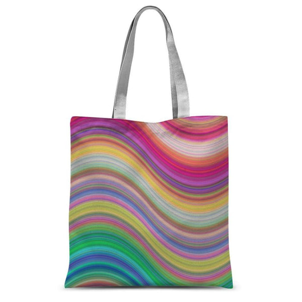 Rainbow Pattern Expression Sublimation Tote Bag 15X16.5 Accessories
