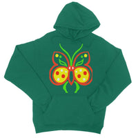 Rasta Butterfly College Hoodie Xs / Bottle Green Apparel