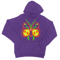 Rasta Butterfly College Hoodie Xs / Purple Apparel