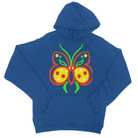 Rasta Butterfly College Hoodie Xs / Royal Blue Apparel
