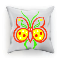 Rasta Butterfly Cushion Faux Suede / 12X12 Homeware