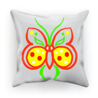 Rasta Butterfly Cushion Faux Suede / 18X18 Homeware