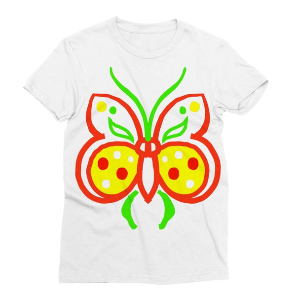 Rasta Butterfly Sublimation T-Shirt Xs Apparel