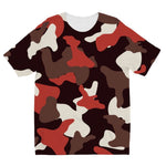 Red Camo Army Pattern Kids Sublimation T-Shirt 3-4 Years Apparel
