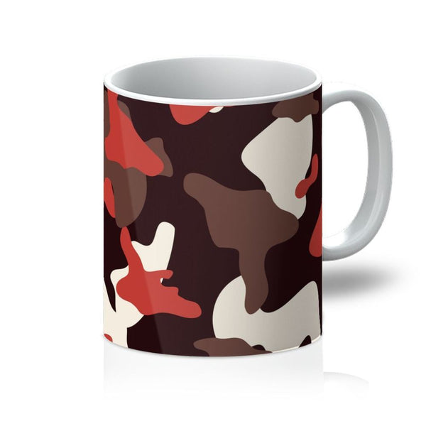 Red Camo Army Pattern Mug 11Oz Homeware