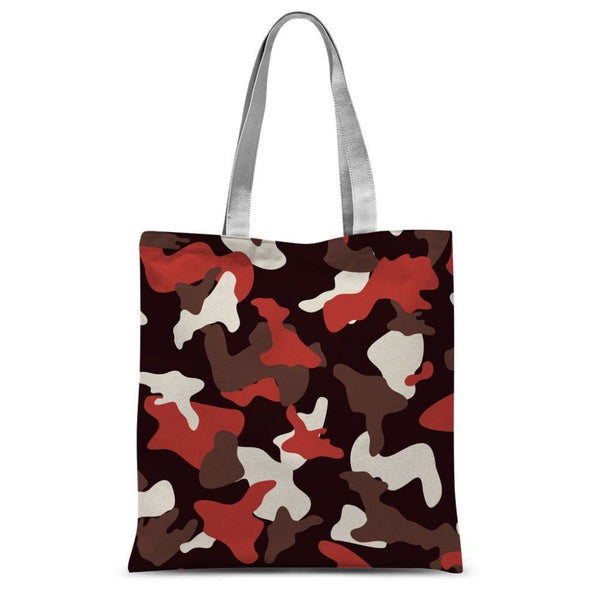 Red Camo Army Pattern Sublimation Tote Bag 15X16.5 Accessories