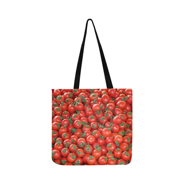 Red Cherry Tomatoes Pattern Reusable Tote Shopping Bag (Two Sides) (1660)
