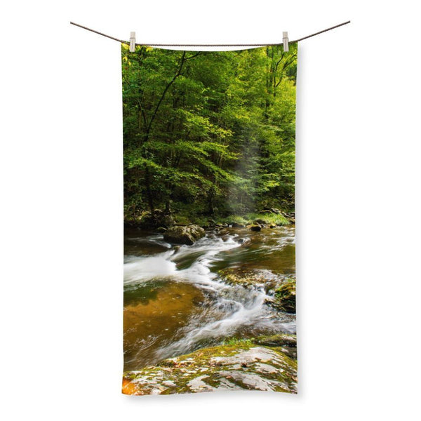 River Surrounded By Trees Beach Towel 19.7X39.4 Homeware
