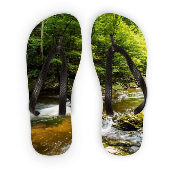 River Surrounded By Trees Flip Flops S Accessories