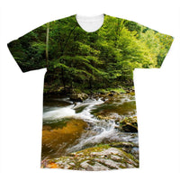 River Surrounded By Trees Sublimation T-Shirt Xs Apparel