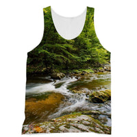 River Surrounded By Trees Sublimation Vest Xs Apparel