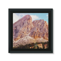Rocky Mountain Surrounded Framed Canvas 14X14 Wall Decor