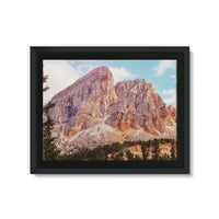 Rocky Mountain Surrounded Framed Canvas 24X18 Wall Decor