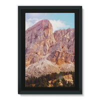 Rocky Mountain Surrounded Framed Canvas 24X36 Wall Decor