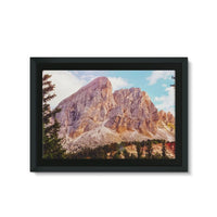 Rocky Mountain Surrounded Framed Canvas 36X24 Wall Decor
