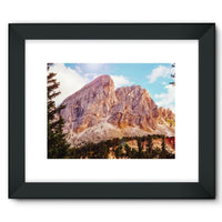 Rocky Mountain Surrounded Framed Fine Art Print 16X12 / Black Wall Decor
