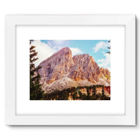 Rocky Mountain Surrounded Framed Fine Art Print 16X12 / White Wall Decor