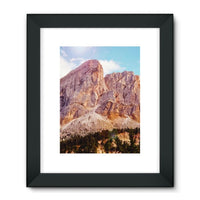 Rocky Mountain Surrounded Framed Fine Art Print 18X24 / Black Wall Decor