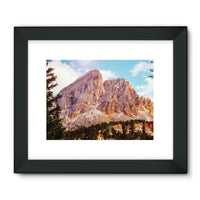 Rocky Mountain Surrounded Framed Fine Art Print 24X18 / Black Wall Decor