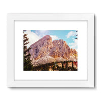 Rocky Mountain Surrounded Framed Fine Art Print 24X18 / White Wall Decor