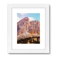 Rocky Mountain Surrounded Framed Fine Art Print 24X32 / White Wall Decor