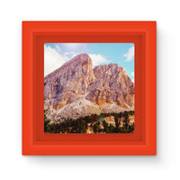 Rocky Mountain Surrounded Magnet Frame Red Homeware