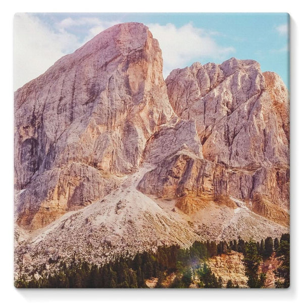 Rocky Mountain Surrounded Stretched Canvas 10X10 Wall Decor