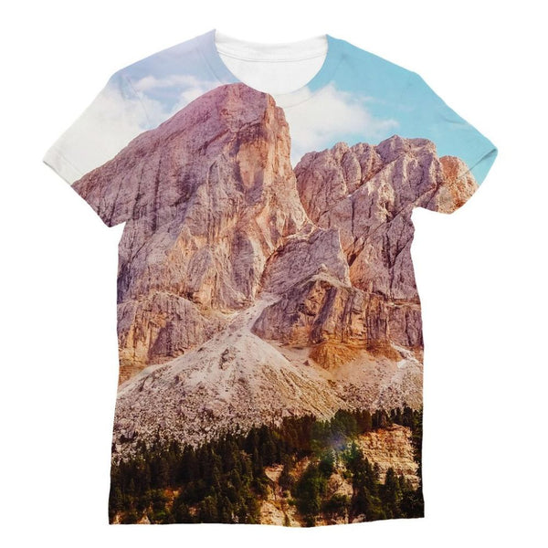 Rocky Mountain Surrounded Sublimation T-Shirt Xs Apparel