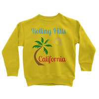 Rolling Hills California Kids Sweatshirt 3-4 Years / Sun Yellow Apparel