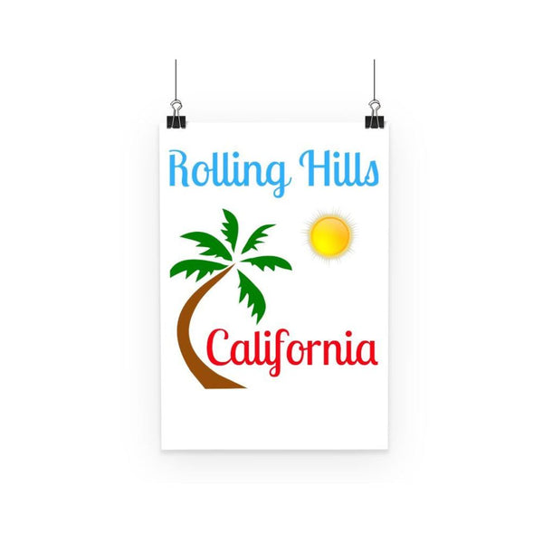 Rolling Hills California Poster A3 Wall Decor