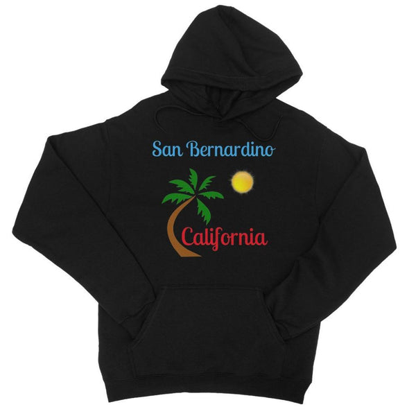 San Bernardino California College Hoodie Xs / Black Apparel