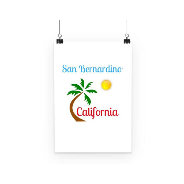 San Bernardino California Poster A3 Wall Decor