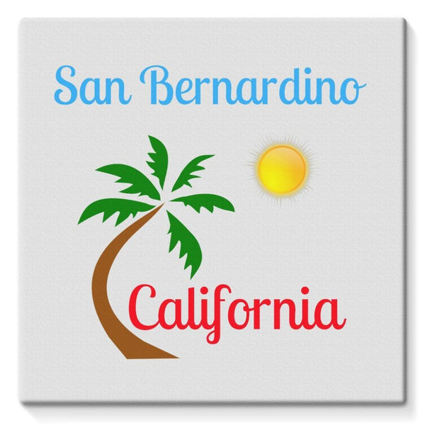 San Bernardino California Stretched Eco-Canvas 10X10 Wall Decor