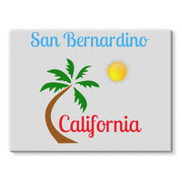 San Bernardino California Stretched Eco-Canvas 24X18 Wall Decor