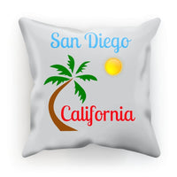 San Diego California Cushion Faux Suede / 18X18 Homeware