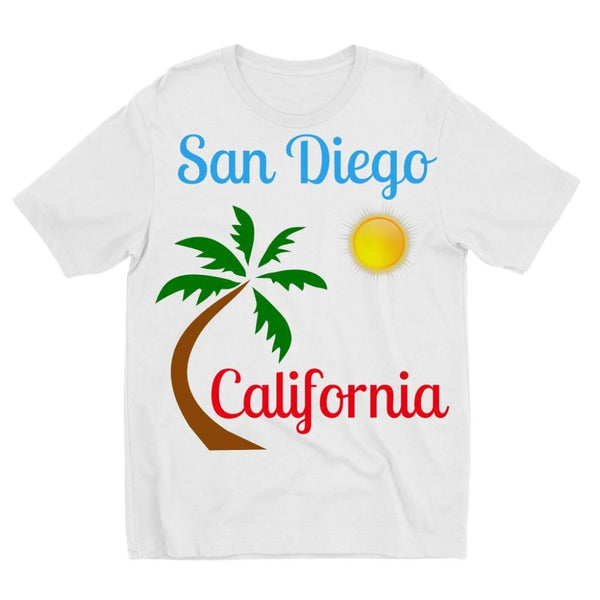 San Diego California Kids Sublimation T-Shirt 3-4 Years Apparel