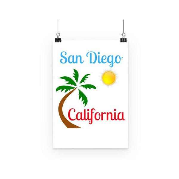 San Diego California Poster A3 Wall Decor