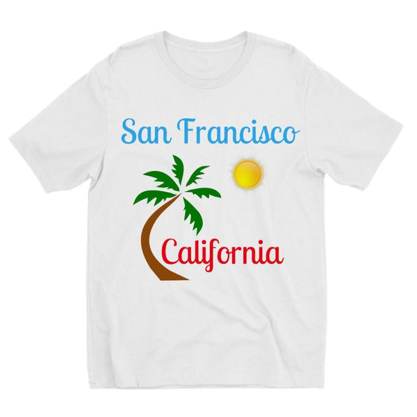 San Francisco California Kids Sublimation T-Shirt 3-4 Years Apparel