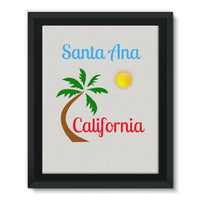 Santa Ana California Framed Eco-Canvas 11X14 Wall Decor