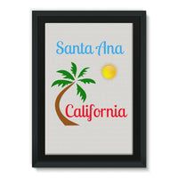Santa Ana California Framed Eco-Canvas 20X30 Wall Decor