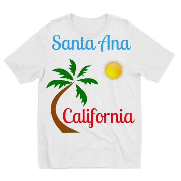 Santa Ana California Kids Sublimation T-Shirt 3-4 Years Apparel