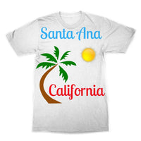 Santa Ana California Sublimation T-Shirt Xs Apparel