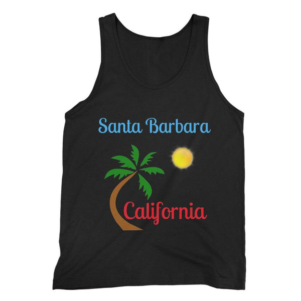 Santa Barbara California Fine Jersey Tank Top S / Black Apparel