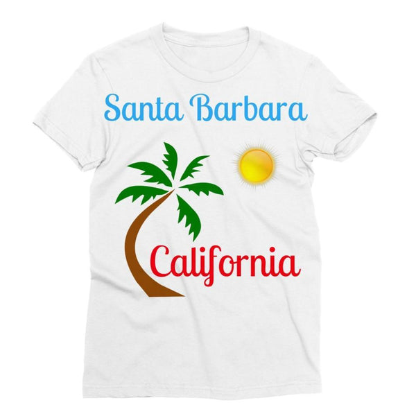 Santa Barbara California Sublimation T-Shirt S Apparel