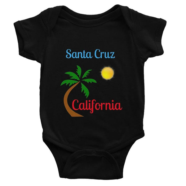 Santa Cruz California Baby Bodysuit 0-3 Months / Black Apparel