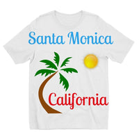 Santa Monica California Kids Sublimation T-Shirt 3-4 Years Apparel